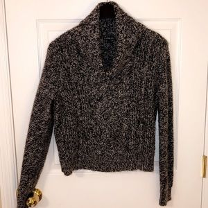 Express wool black and white cowl neck sweater M